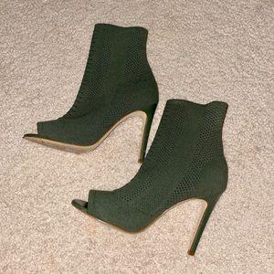 Aldo peep toe boots 38